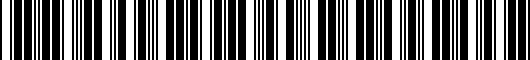 Barcode for PT9083500202